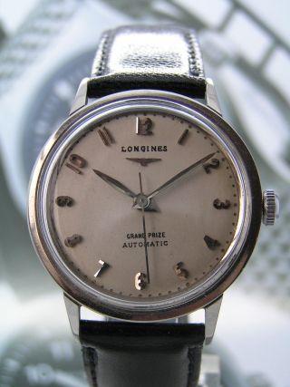 Klassische Longines Grand Prize Automatik Herrenuhr Mit Cal.  840 Bild