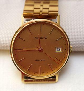Armbanduhr Quartz Genève Vw Edition Geneve Orient Goldstempel: 0,  585 Bild