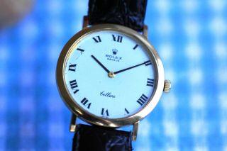 Rolex Cellini Armbanduhr Handaufzug Kaliber 1600 Bild
