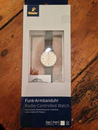 Tchibo Funk Armbanduhr Mit Lederarmband Bild