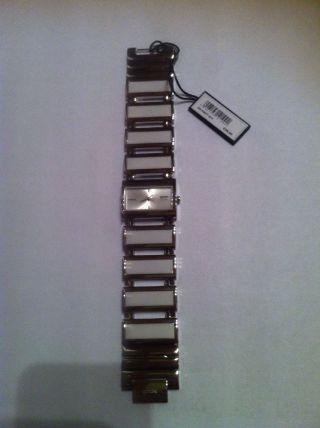 Damenuhr Gooix,  Stahl/keramik Weiss,  Armbanduhr,  Weihnachtsgeschenk Bild