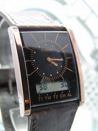 Klassiker Tissot Two Timer Unisexuhr - Sammlerstück - Seltene Gehäusefarbe Bild