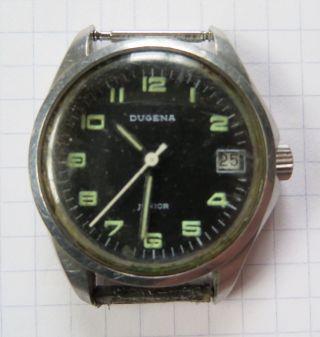 Hau Dau Armbanduhr Dugena Junior Handaufzug Mechanisch Datum 1970 Er Bastler Bild