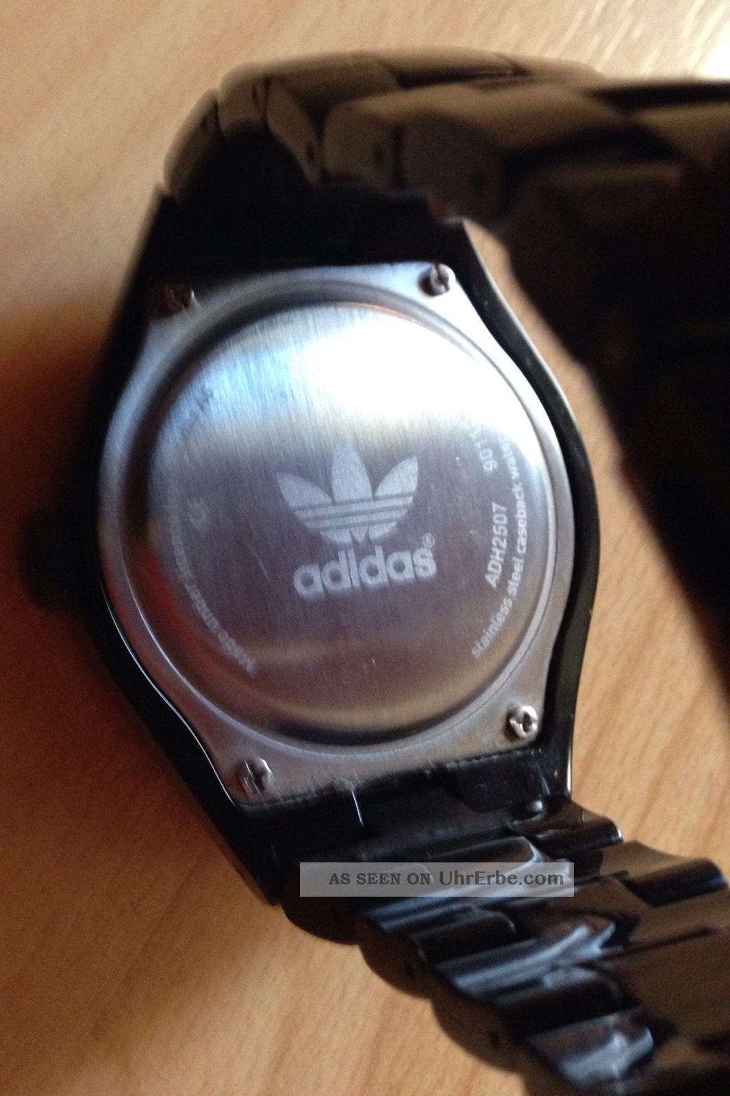Adidas Damenuhr Herrenuhr Cambridge Adh2507 Kunststoff Schwarz