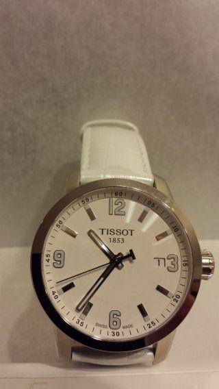 Tissot Prc 200 Quartz White T0554101601700 Uhr Armbanduhr Ungetragen Bild