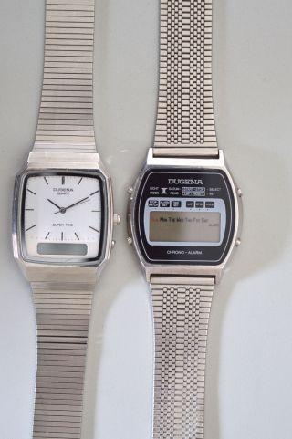 2 Dugena Uhren Armbanduhren Herren Vintage Bild