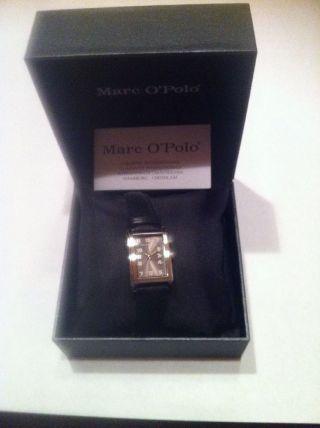 Marc O ' Polo Damen Uhr Schwarz Weihnachtsgeschenk 4210602 Leder Armbanduhr Bild