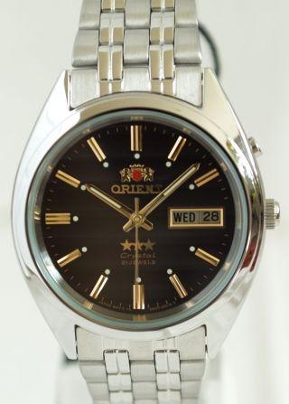 Orient Herrenuhr Uhr Star 3 Crystal Automatik Automatic - - Edelstahl Bild