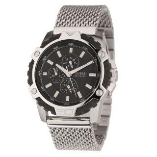 5 Tage Guess Herrenuhr W19530g1 Xl Fiber Edelstahl Milanaise - Armband Bild