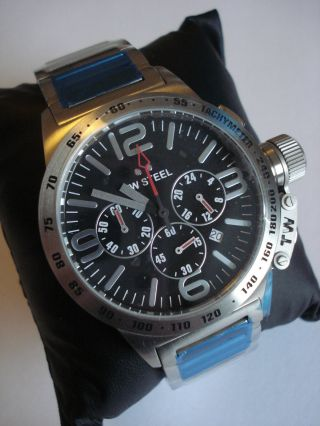 Tw Steel Tw301 Canteen Chronograph Herren 10 Atm Uhr Mit Etikett Bild