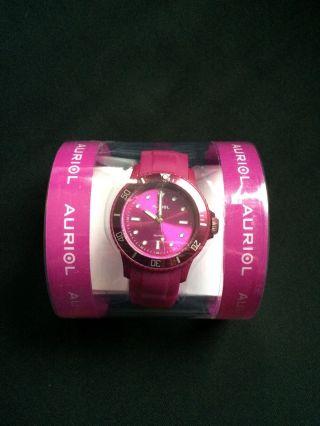 Silikonuhr/silikon Uhr/damenuhr/armbanduhr Pink Von Auriol - Wie Bild