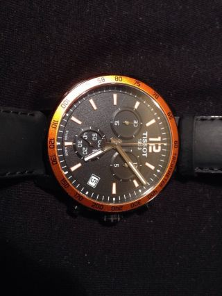 Tissot T - Sport Quickster Chronograph Version T095.  417.  36.  057.  01 Wie Top Bild