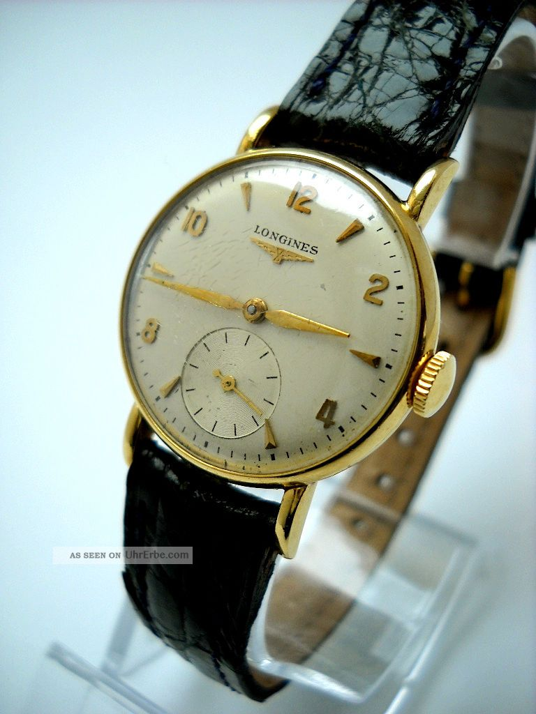vintage longines 18k gold damen uhr kleine sekunde. Black Bedroom Furniture Sets. Home Design Ideas