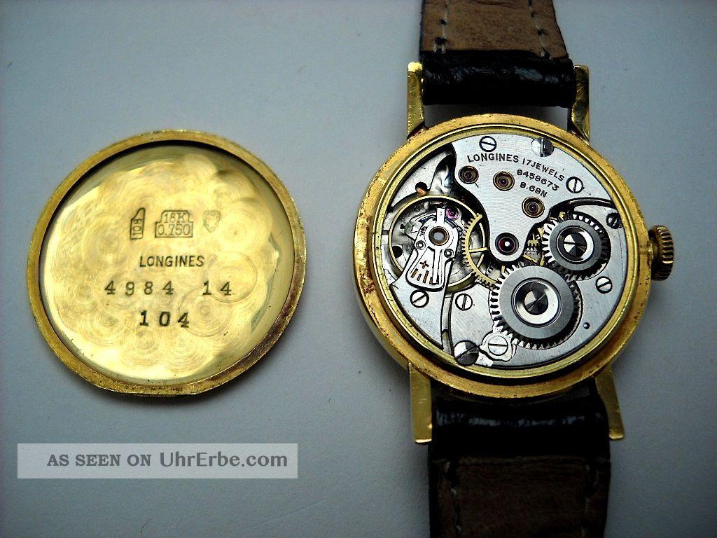 Vintage 18k Longines Sekunde Damen Uhr Kleine Gold doeCxrB