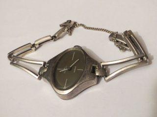 Blumus Antik Vintage Design Sterling Silber 925 Damen Uhr Handaufzug Weihnachten Bild