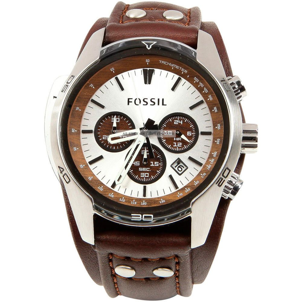 fossil herren armbanduhr uhr sport chronograph leder braun. Black Bedroom Furniture Sets. Home Design Ideas