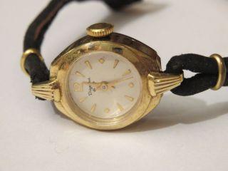 Sammler Edle Dugena Antik Damenuhr Handaufzug 50er Jahre Gut Erhalten Walz Gold Bild