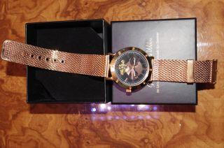 Graf Von Monte Wehro Roverto Rosa Schwarz Automatik Uhr Milanaise Armband Rar Bild