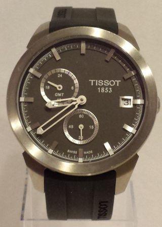 Tissot Titan Gmt Black Herren Chronograph T0694394706100 Uhr Armbanduhr Bild
