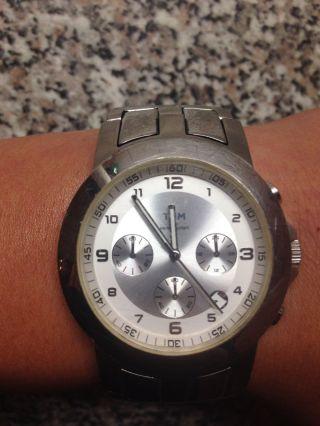 Tcm Typ 371 Herrenuhr Wr 50m Datum&chronograph Sportlich Elegant Edelstahl Bild