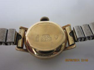 Damen Armbanduhr 750 Gold Läuft 50er Jahre Bild