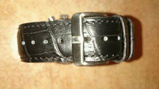 Neue Mercedes Herren Uhr Chronograph Leder Armband Schwarz 3 Atm Edelstahl Bild