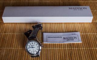 Tolle Herrenuhr Von Madison York - - Ein Sehr Schönes Geschenk Bild