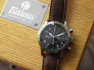 Schöner Chronograph Von Tutima Fx Utc Valjoux Mit 2.  Zeitzone Aus Sammlung Top Bild