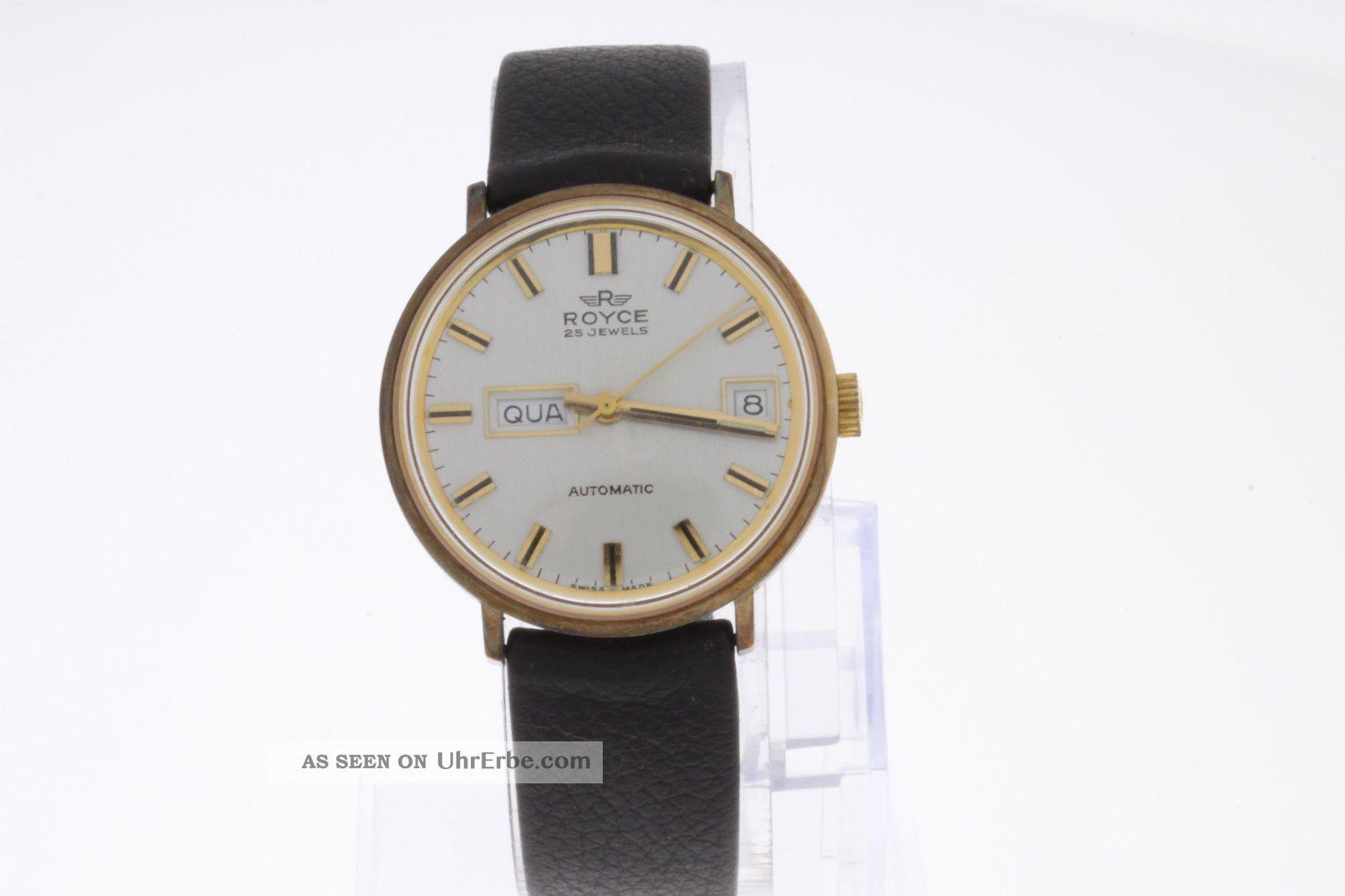 Royce Automatic Vintage Armbanduhr Old Stock Armbanduhren Bild