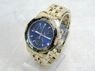 Tissot Prs200 Chronograph Taucheruhr Quarz Armbanduhr Vergoldet Bild
