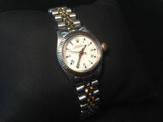 Rolex Uhr 6719 Automatik Stahl Gold Bild