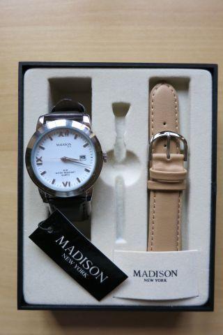 Madison York Herrenarmbanduhr Mit Wechselarmband Und Geschenkbox - Bild