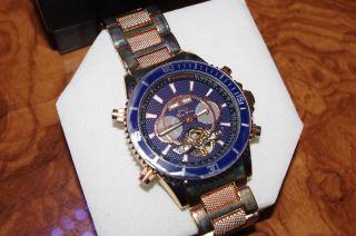 Graf Von Monte Wehro Stuttgart Rosa Blau Automatik Uhr Xxl44,  5 Mm Nobel Rar. Bild