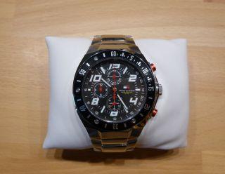 Tommy Hilfiger Armbanduhr Chronograph Fliegeruhr Uhr Wasserdicht 100m Bild