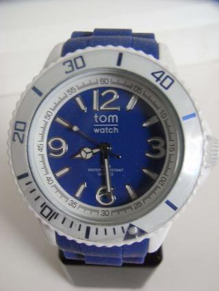 Tomwatch Basic Sport 44 Wa 00109 White Case Blue Uvp 49,  90€ Bild