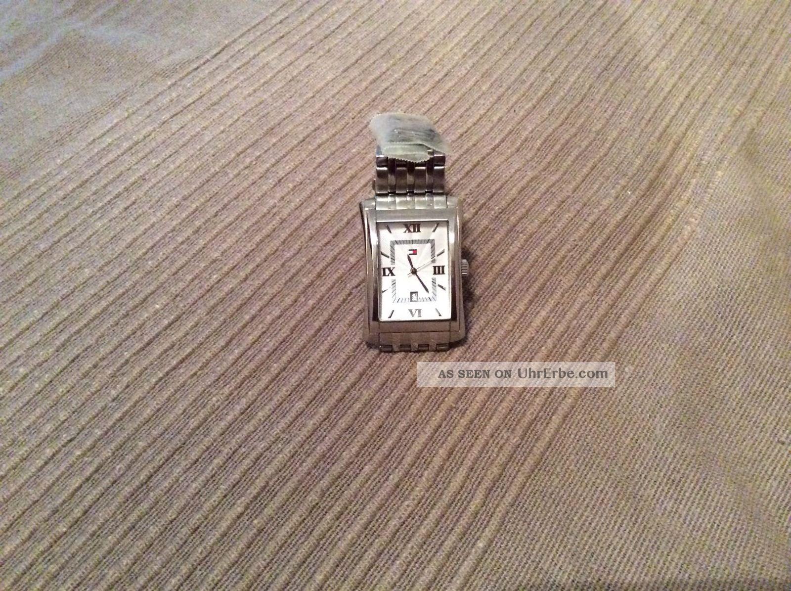 Tommy Hilfiger Uhr Herren Silber Datum Armbanduhren Bild