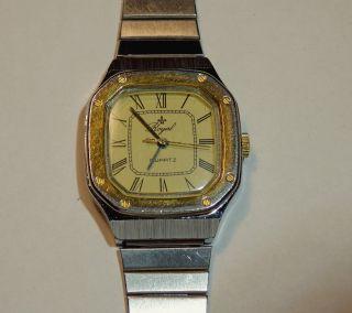 Royal Swiss Caliber Quartz Uhr Damenuhr Dau Stahl/gold,  Edelstahl Uhrenarmband Bild