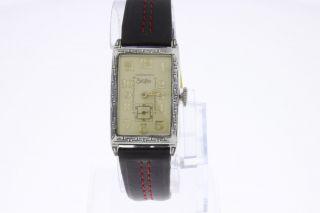 Zentra Vintage Armbanduhr Rectangular Handaufzug Bild