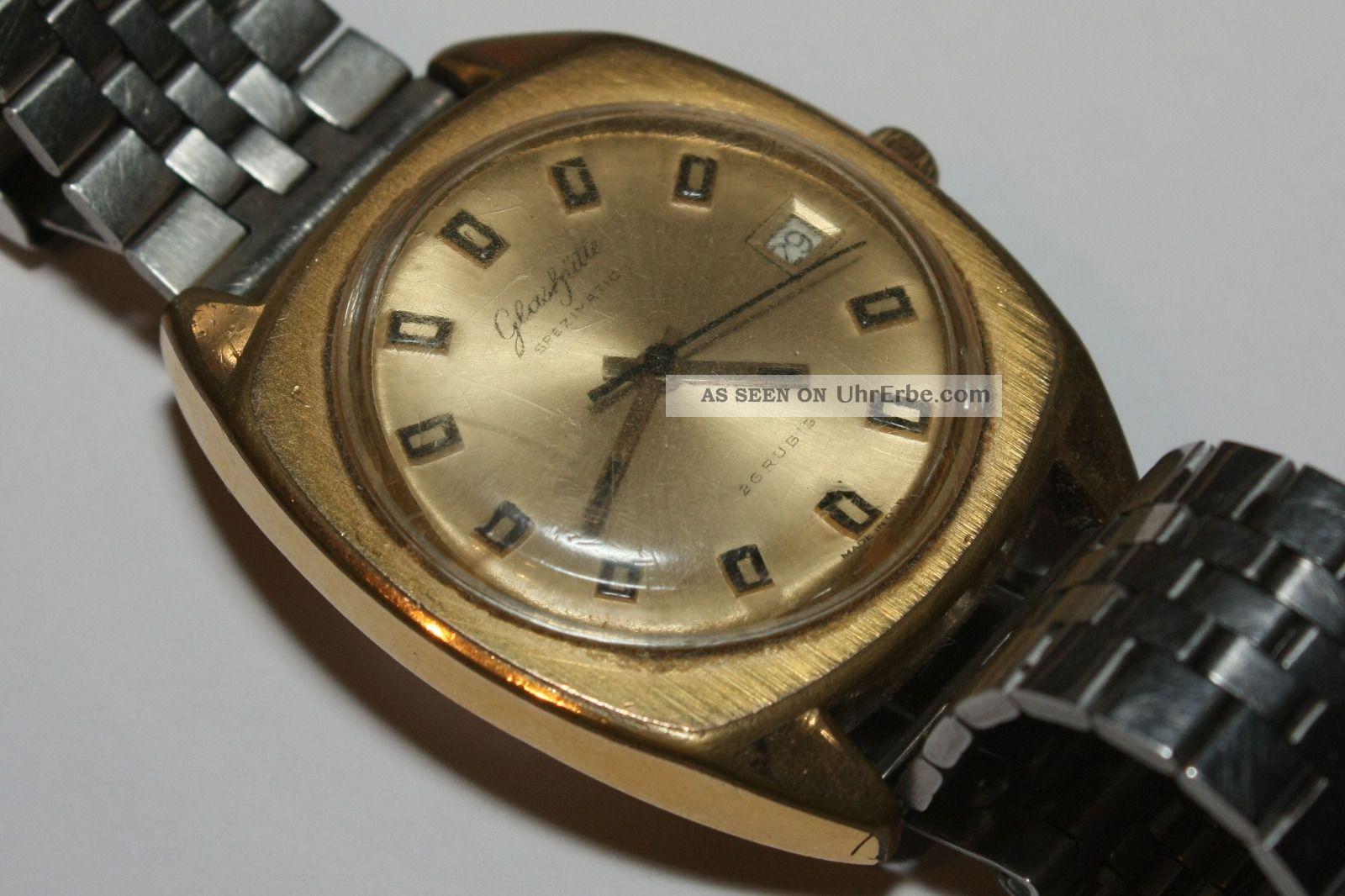 Glashtte Gub Spezimatic Herren Armbanduhr Ddr 1960 70