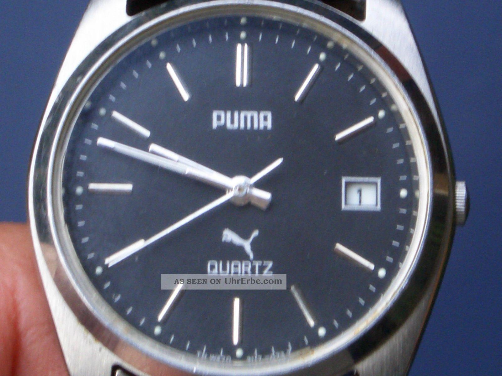 Seltene Puma Herren Armbanduhr Gut Erhalten Läuft Gut.