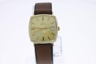 Marvin 14 Karat Gold Vintage Armbanduhr Swiss Made Automatic Old Stock Bild