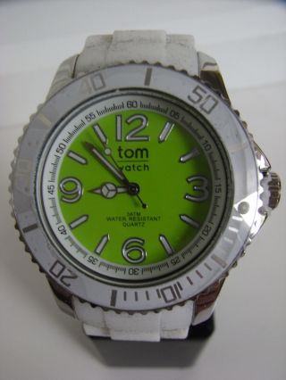 Tomwatch Basic White 44 Wa 0119 Lemon Green Uvp 49,  90€ Bild