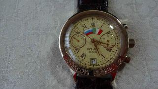 Poljot Moskau - Rom Chronograph Handaufzug,  Manufakturwerk Poljot Kal.  3133 Bild