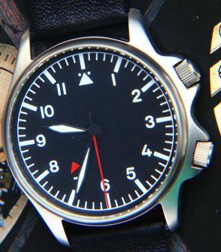 Poljot Aviator Fliegeruhr Armbandwecker,  Militär Stil Mechanischer Alarm Bild