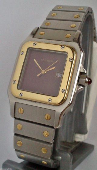 Cartier - Red - Santos Stahl/gold Herrenuhr Men´s Watch Automatic Bild