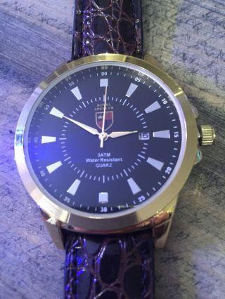 Royal Spencer Seiko - Quarzuhrwerk Leder - Armband Wasserfest Bis 3 Atm Bild
