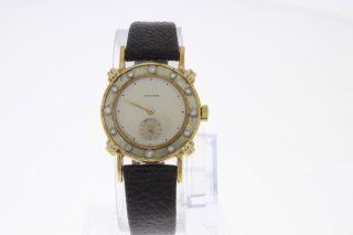 Longines Wittnauer Vintage Damenuhr Mit Diamantbesatz Handaufzug 14 Karat Gold Bild