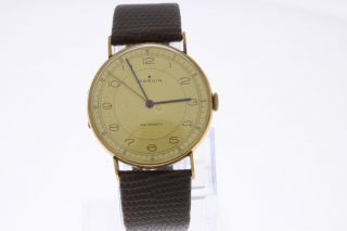 Marvin 14 Karat Gold Vintage Armbanduhr Swiss Made Mit Handaufzug Bild