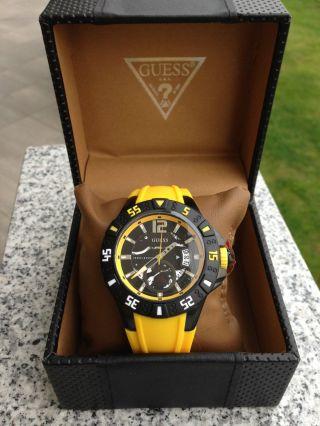 Guess Herren - Armbanduhr Xl Magnum Analog Quarz Silikon W0034g7 Bild