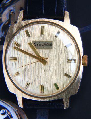 GlashÜtte Spezimatic Vintage Dresswatch,  Gehäuse Gebürstet Vergoldet Bild